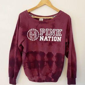 Upcycle ♻️ PINK Victoria Secret tie dye sweatshirt